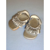 "|2 7_8"" Silver Ruffle Sandals"