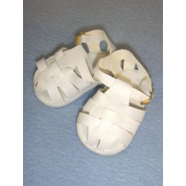 "2 7_8"" White Fisherman's Sandals"