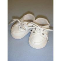 "2 7_8"" White Sporty Vinyl Shoes"