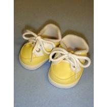 "2 7_8"" Yellow Sporty Vinyl Shoes"