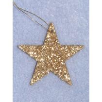 "2"" Flat Gold Glitter Star Pkg_12"