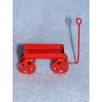 "2"" Metal Red Wagon"