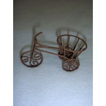 "2"" Miniature Rustic Metal Tricycle Planter"