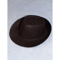 "3 1_2"" Black Fedora Hat"