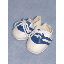 "3 1_2"" White w_Blue Sneaky Sneakers"