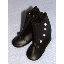 "|3 1_4"" Black High Button Boots"