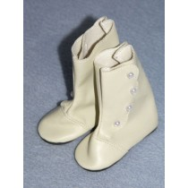 "3 1_4"" Bone High Button Boots"