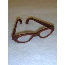 """ 3 1_4"""" Brown Glasses"""