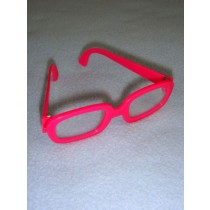 "|3 1_4"" Pink Hipster Glasses"