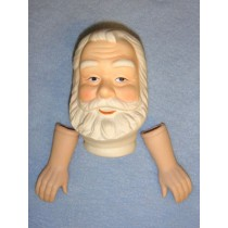 "3 3_4"" Porcelain Santa Set"