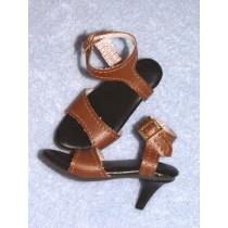"3 5_8"" Brown Dazzling High Heel Shoes"