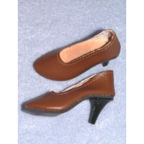 "3 5_8"" Brown Luvable High Heel Shoes"