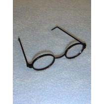 "Glasses - Oval - 3"" Black"