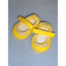 """3"""" Bright Yellow Mary Jane Sneakers"""