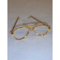"3"" Gold Aviator Glasses"