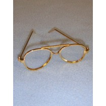 "Glasses - Aviator - 3"" Gold"