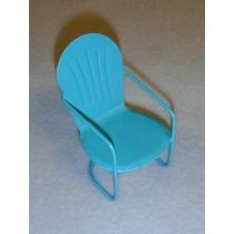 "3"" Miniature Blue Metal Chair"
