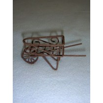 "3"" Miniature Rustic Metal Wheelbarrow"