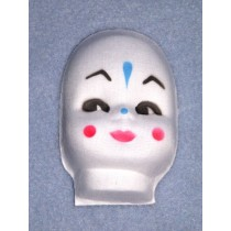 "3"" Molded Cloth Clown Face"