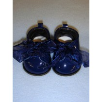 "3"" Navy Blue Patent Shoes"
