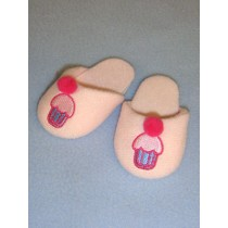 "3"" Pink Cupcake Slippers"