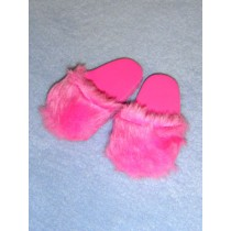 "|3"" Pink Faux Fur Slippers"
