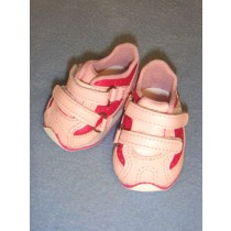 "Shoe - Mary Jane Two-Strap Sneaker - 3"" Pink"