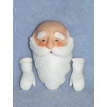 "3"" Porcelain Santa & Mittens"