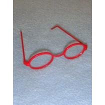"3"" Red Oval Frame Glasses"