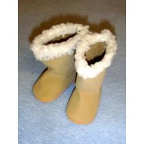 "|3"" Tan Sherpa Trim Boots"