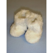"|3"" White Furry Boots"
