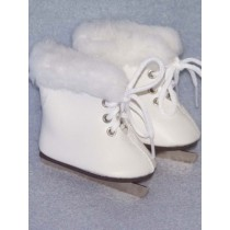 "3"" White Ice Skates w_Fur"