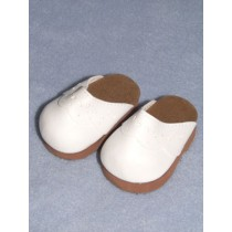 "3"" White Scallop Clogs"
