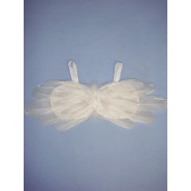 "4 1_4"" x 15"" White Feather Angel Wing"