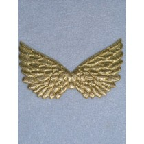 "4 3_4"" Gold Embossed Angel Wing - Pkg_2"