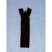 "4"" Black Doll Zipper"