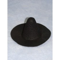 "4"" Black Felt Witch Hat"