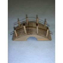 "4"" Miniature Rustic Wooden Bridge"