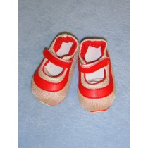 """4"""" Red Mary Jane Sneakers"""