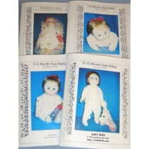 4 Stages of Infancy Cloth Doll Patterns (Set of 4)