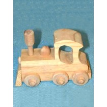 "4"" Unfinished Wood Train Engine"