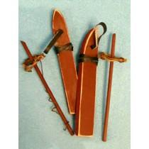 "4"" Wood Skis 1 Pr"