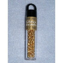 4mm Japanese Glass E Beads - Ant. Gold