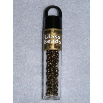 4mm Japanese Glass E Beads - Bronzed Gold