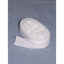 "|Socks - Tube - White - 1"" Wide"