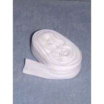 "|Stocking - Tube -  White - 1 1_4"" Wide"
