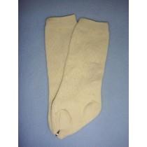 """ Sock- Diamond Knee High - 24-26"""" Ecru (8)"""