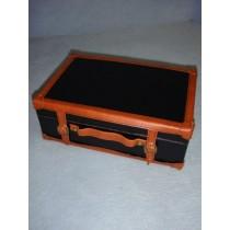 |Large Leather-Like Suitcase