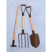 """5 1_2"""" Rusted Garden Tools Set_3"""