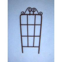 "5"" Miniature Rustic Metal Trellis"